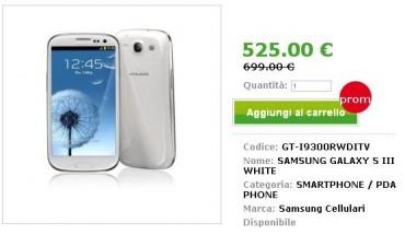 Samsung Galaxy S3 prezzo