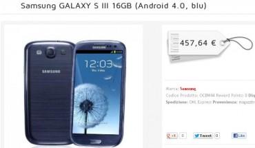 Samsung Galaxy S3 prezzo più basso