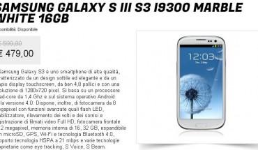 Sasmung Galaxy S3 prezzo scontato