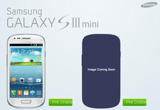 Samsung Galaxy S3 mini preordine