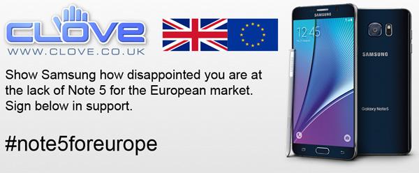 Samsung Galaxy Note 5 Europa