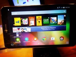 Samsung Galaxy Tab Nook novità